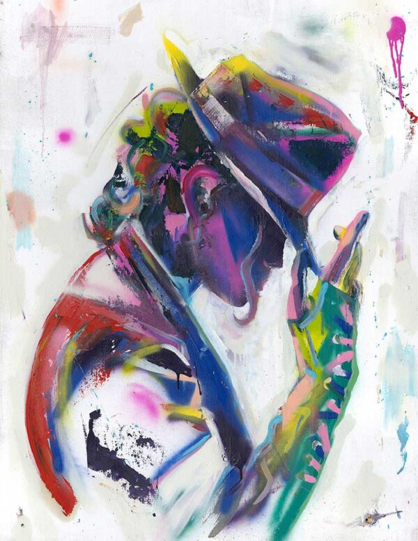 abstract michael jackson canvas art