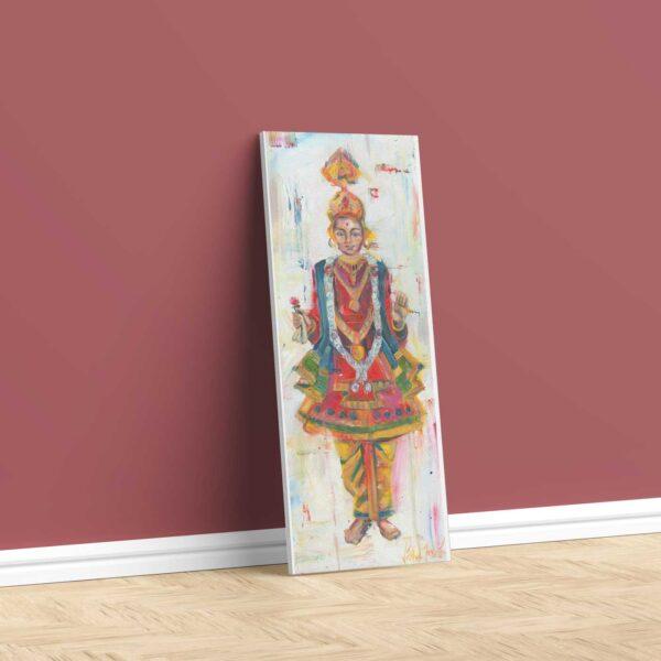 Bhagwan Swaminarayan wall canvas painting