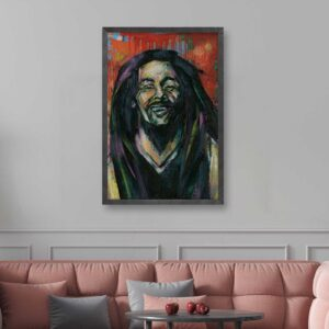 luxury bob marley wall painting